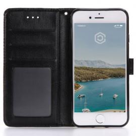 Casecentive Leren Wallet case iPhone 7 / 8 / SE 2020 zwart