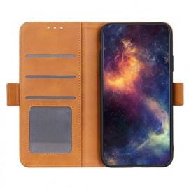 Casecentive Magnetische Leren Wallet case Galaxy S20 tan