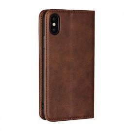 Casecentive Leren Wallet case iPhone XS bruin