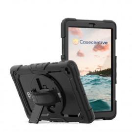Casecentive Handstrap Pro Hardcase met handvat Galaxy Tab S6 Lite 10.4 2020 zwart