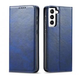 Casecentive Leren Wallet case Luxe Samsung Galaxy S21 blauw