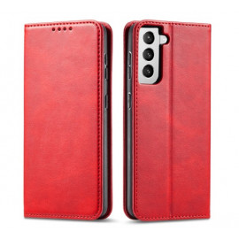 Casecentive Leren Wallet case Luxe Samsung Galaxy S21 rood