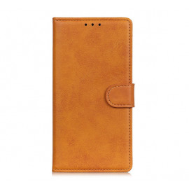 Casecentive Leren Wallet case met sluiting iPhone 13 tan