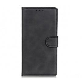 Casecentive Leren Wallet case met sluiting iPhone 13 zwart