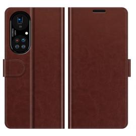 Casecentive Magnetische Leren Wallet case Huawei P50 Pro bruin