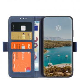 Casecentive Magnetische Leren Wallet case iPhone 12 / iPhone 12 Pro blauw