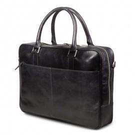 """DBramante1928 leren business bag 14"""" Rosenborg (Rosenberg) zwart"""