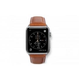 Dbramante1928 Kopenhagen Apple Watch bandje 38mm zilver/bruin