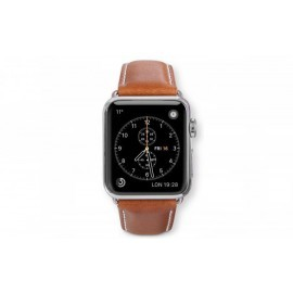 Dbramante1928 Kopenhagen Apple Watch bandje 38mm grijs/bruin