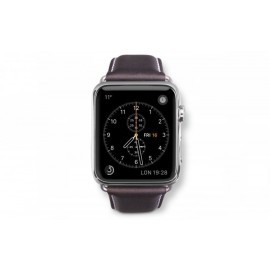 Dbramante1928 Kopenhagen Apple Watch bandje 38mm grijs/donkerbruin