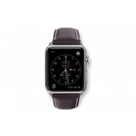 Dbramante1928 Apple Watch bandje 38mm zilver/bruin