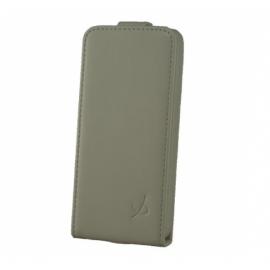 Dolce Vita Flip Case leer iPhone 5(S)/SE wit