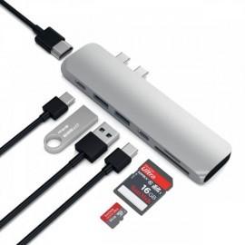Satechi USB-C hub Pro 4K HDMI zilver