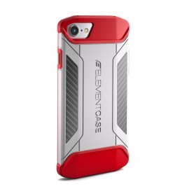 Element Case CFX iPhone 7 / 8 / SE 2020 wit-rood