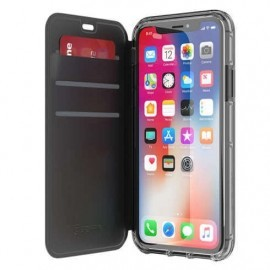 Griffin Survivor Clear Wallet iPhone X zwart