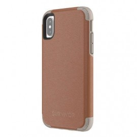 Griffin Survivor Prime Leather Case iPhone X bruin