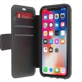 Griffin Survivor Strong Wallet iPhone X zwart/ donkergrijs