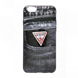 Guess Denim iPhone 6(S) TPU Case Jeans zwart