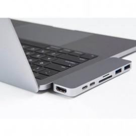 HyperDrive USB-C adapter Thunderbolt 3 zilver