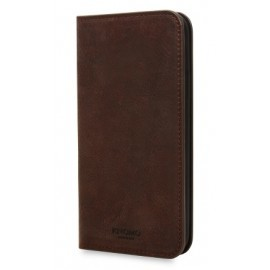 Knomo iPhone X Premium Leather Folio Bruin