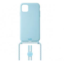 Laut Pastels case met koord iPhone 12 / iPhone 12 Pro blauw