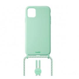 Laut Pastels case met koord iPhone 12 Mini groen