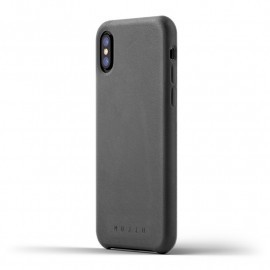 Mujjo Leather Case iPhone X grey