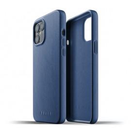 Mujjo Leather Case iPhone 12 Pro Max blauw