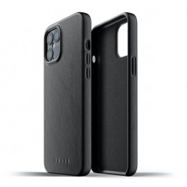 Mujjo Leather Case iPhone 12 Pro Max zwart