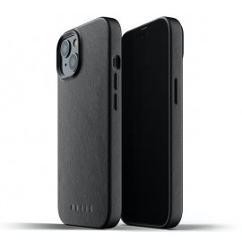 Mujjo Leather Case iPhone 13 zwart