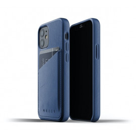 Mujjo Leather Wallet Case iPhone 12 Mini blauw