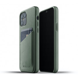 Mujjo Leather Wallet Case iPhone 12 / iPhone 12 Pro groen