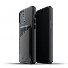 Mujjo Leather Wallet Case iPhone 12 / iPhone 12 Pro zwart