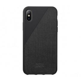 Native Union Clic Canvas case iPhone XS zwart