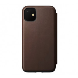 Nomad Rugged Folio Leather Case iPhone 11 bruin