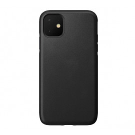Nomad Rugged Leather Case iPhone 11 zwart