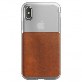 Nomad Clear Case iPhone X / XS bruin