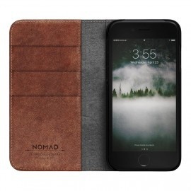 Nomad Leather Folio Case iPhone 7 / 8 / SE 2020 bruin