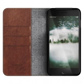 Nomad Leather Folio Case iPhone 7 / 8 Plus bruin