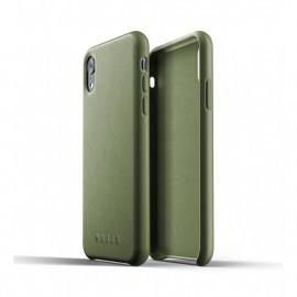 Mujjo Leather Case iPhone XR groen