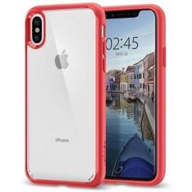 Spigen Ultra Hybrid Case iPhone X rood