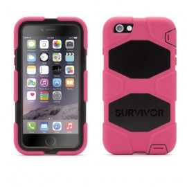Griffin Survivor Hardcase iPhone 6 (S) Plus roze/zwart