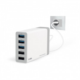 SBS 7000 mA Charging Station met 5 USB poorten