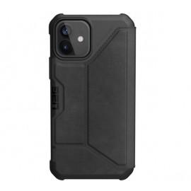 UAG Metropolis Leather Hard Case iPhone 12 / iPhone 12 Pro zwart