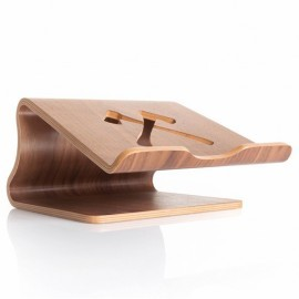 Woodcessories ecolift MacBook stand walnoot
