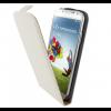 Mobiparts Flip Case leer Galaxy S4 wit
