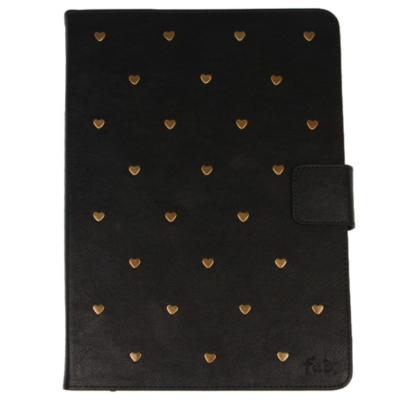 Heart Studs iPad 2 / 3 / 4 Folio Case Black