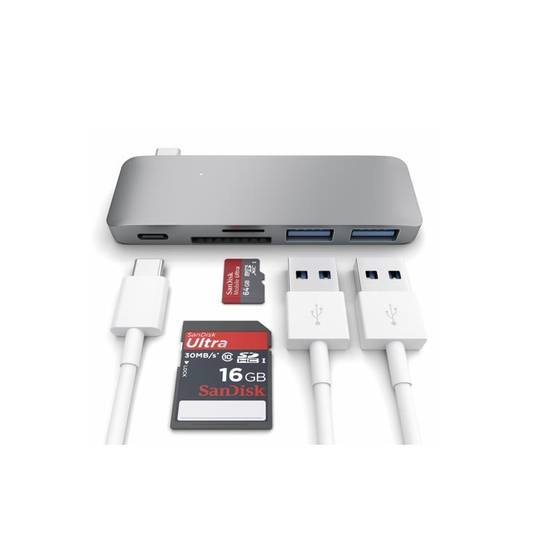 Satechi USB C 3.0 3 in 1 Hub Space grey