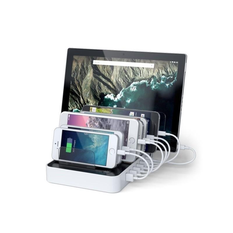 Satechi 7-Port USB Charging Station Dock (2 x Type-C Ports) wit