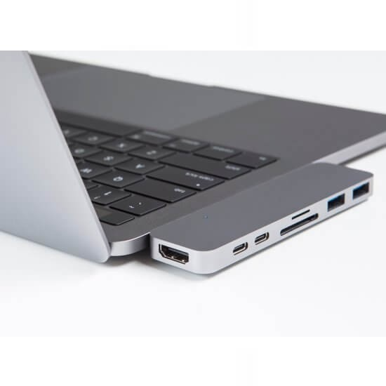 HyperDrive USB-C adapter Thunderbolt 3 zilver